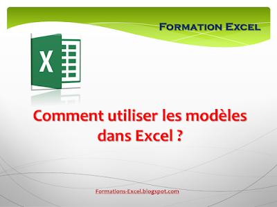 comment utiliser les modèles dans Excel