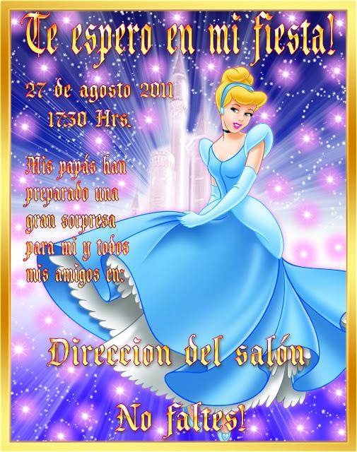 Tarjetas De Invitación Para Cumpleaños Cenicienta Imagui