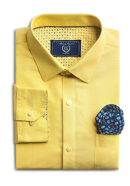 Sunset Yellow Shirt from Forma- Linens collection by Peter England_Rs 15...