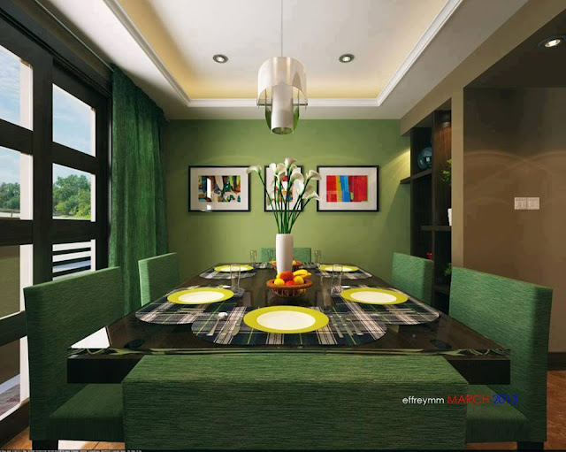 Green Lovely Decorative Interior Design Ideas 2013