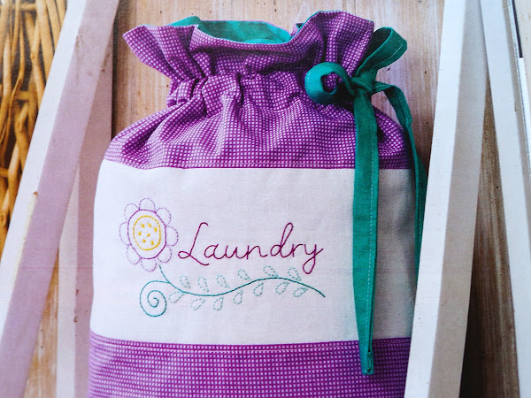 EMBROIDERY: Travel Laundry Bag {Free Pattern}
