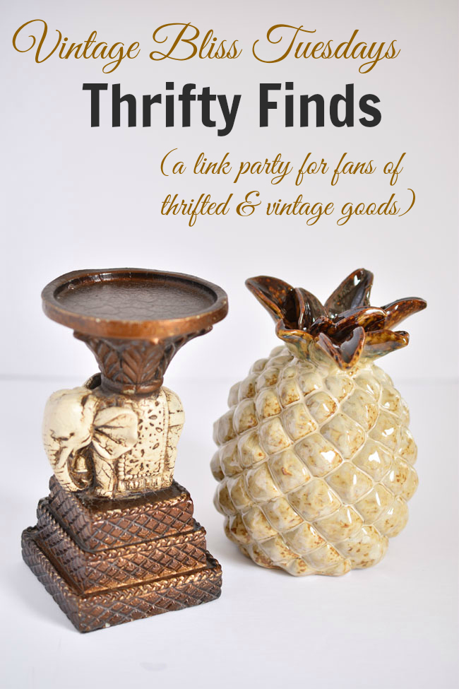 Check out the vintage and thrifted finds linked up at Vintage Bliss Tuesdays, a weekly link party for thrift fans. #shopping #thrifty