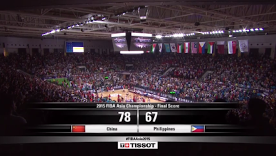 China Wins Against Philippines - 2015 FIBA Asia Championship
