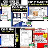 Road to Revolution, Google Activities, American History Timelines, American History Word Walls, American History Test Prep, American History Outline Notes, American History by President Research, American History Mapping Activities, American History Biography Profiles, American History Interactive Notebooks
