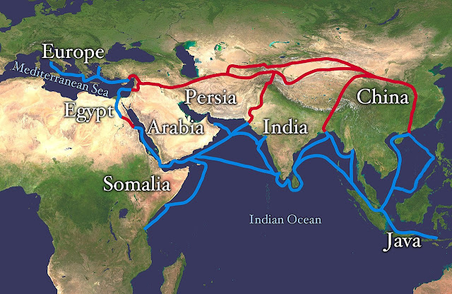 Silk Road - The route used by ancient merchants for international trade