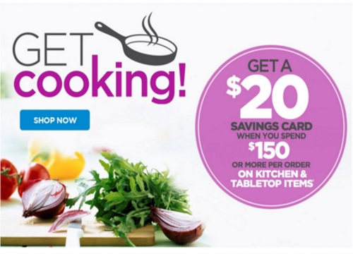The Shopping Channel Free $20 Savings Card When You Spend $150 on Kitchen & Tabletop Items