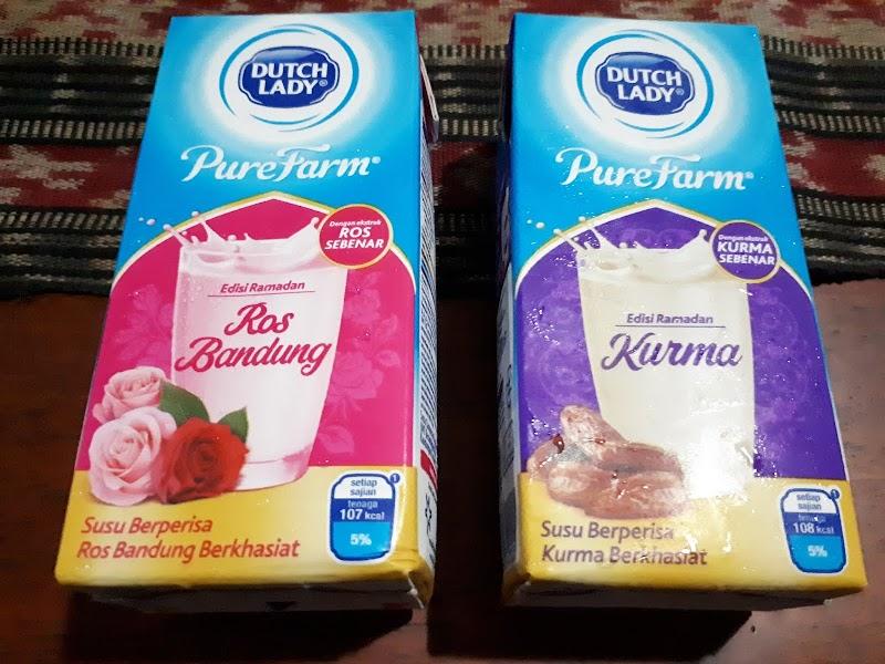 Dutch Lady Pure Farm Edisi Ramadan, Berperisa Ros Bandung & Kurma