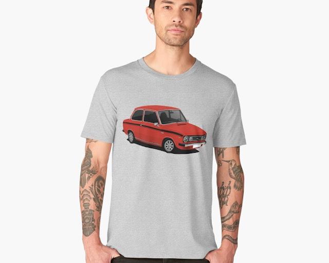 DAF 66 1300 Marathon, 70s car, T-shirt