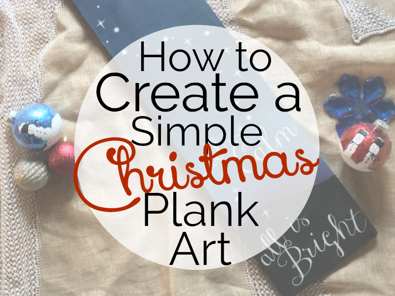 How to create a pretty decoration for your home using paint and wood and a little creativity