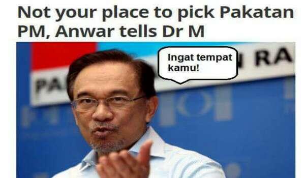 KNOW YOUR PLACE! Ingat tempat kamu - Mahathir Kena 'Sound' Anwar