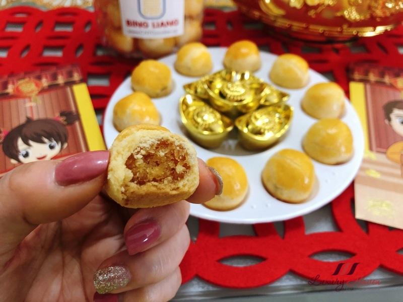 bing liang cny goodies pineapple tarts review
