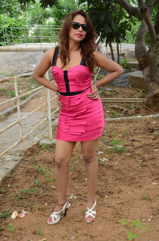 Sony Chhabria Latest Hot Cleveage Spicy Pink Short Skirt PhotoShoot Images At Dhamayanthi Movie Launch