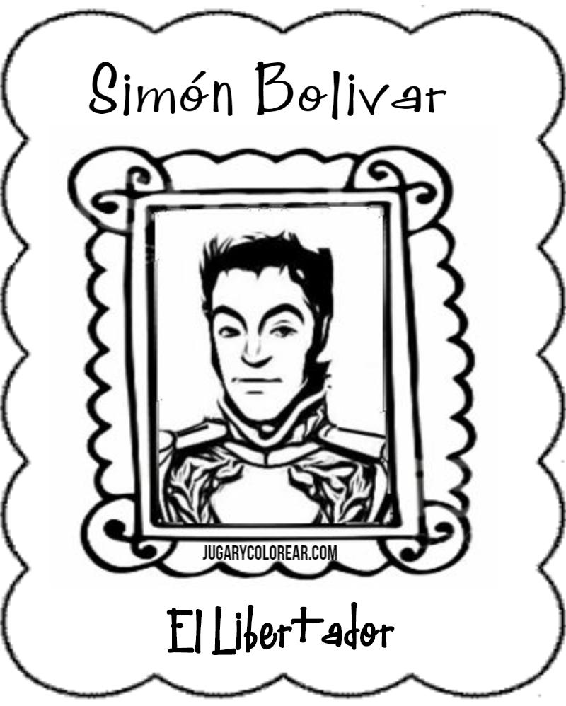 Dibujos de simn Bolvar para colorear