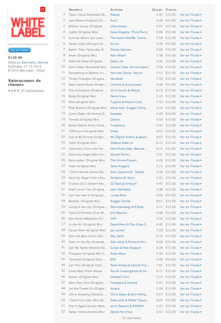 empo white label descargar album paranoid