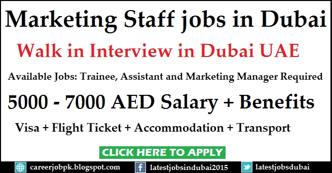 Marketing Staff jobs in Dubai