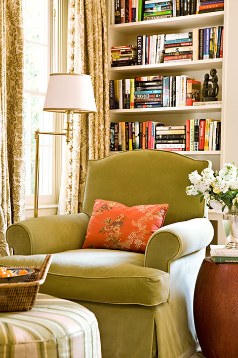 Cottage Home Library: Hydrangea Hill Cottage: Home Libraries