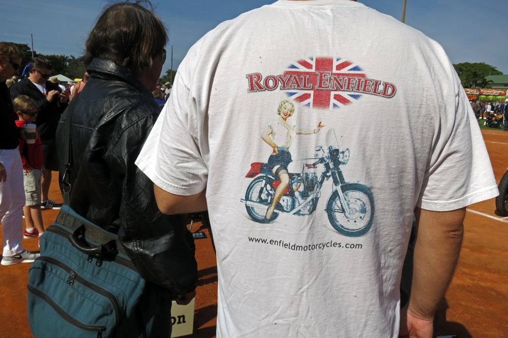 Royal Enfield t-shirt.