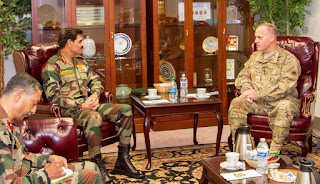 Gen. Dalbir Singh and Lt. Gen. Stephen R. Lanza, I Corps commanding general, discussed opportunities for future mil-to-mil engagements  at Joint Base Lewis-McChord on April 4-6, 2016
