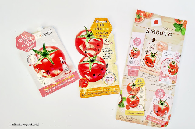 Smooto Tomato Collagen White Serum dan Smooto Tomato Collagen White & Smooth Mask