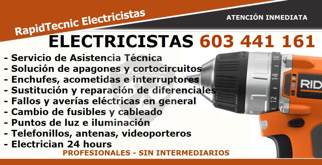 Rapidtecnic madrid octubre 2016 - Electricistas en madrid ...