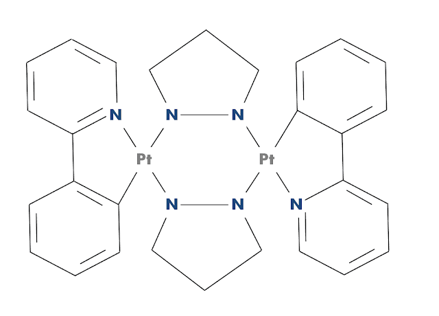 Molecular structure of a 'butterfly molecule' (BFPtPZ).