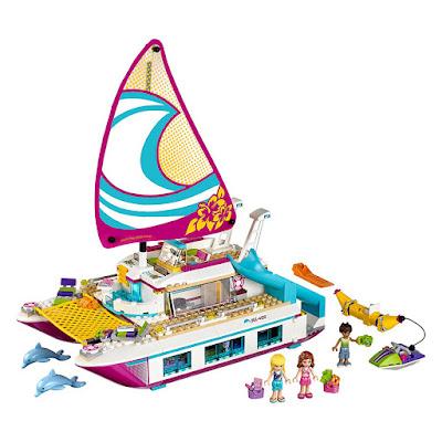 LEGO Friends - 41317 Barco Catamarán Tropical | 2017 | Juego de construcción | COMPRAR JUGUETE contenido