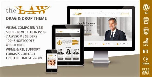 Lawyer Legal Attorney Responsive WP Theme