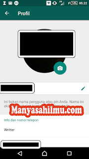 Menambahkan Foto profil WhatsApp