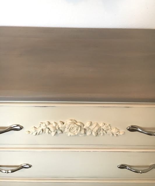 dresser with satin nickel pulls