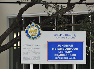 Jungman Neighborhood Library (City of Houston on-site project sign)