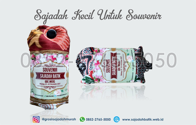 sajadah kecil untuk souvenir, souvenir sajadah murah, 0852-2765-5050