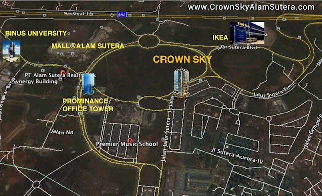 Peta Lokasi Crown Sky Alam Sutera