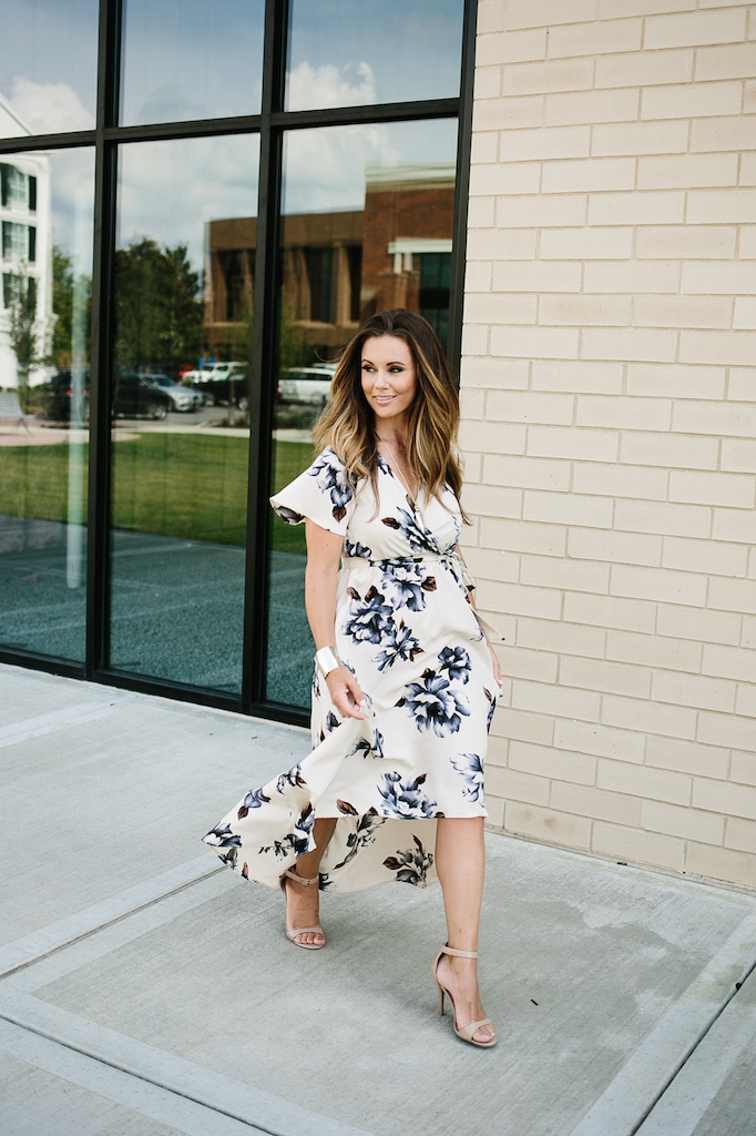 KBStyled: vici collection blue bonnet dress floral maxi dress