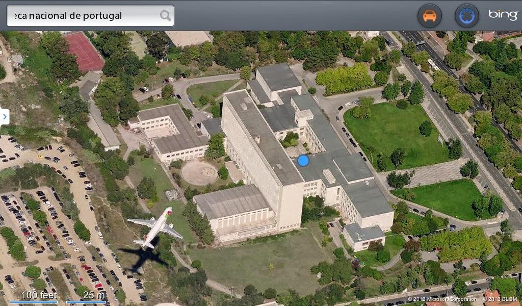 mapa satelite lisboa Conversa, muita conversa: A Biblioteca Nacional e os Aviões mapa satelite lisboa