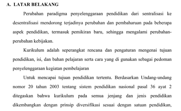 Contoh Program Kurikulum PAUD, TK, RA, TPA, KOBER