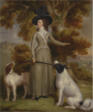 George Haigh, Countess of Effingham with gun and dogs, 1787, Yale Centre for British Art, USA