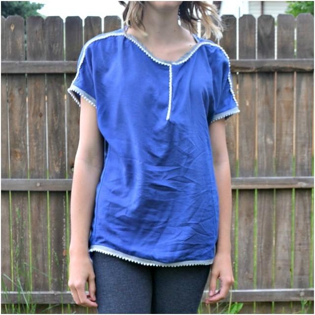 Me Made: Pompom Hi-Lo Top // DIY Sew