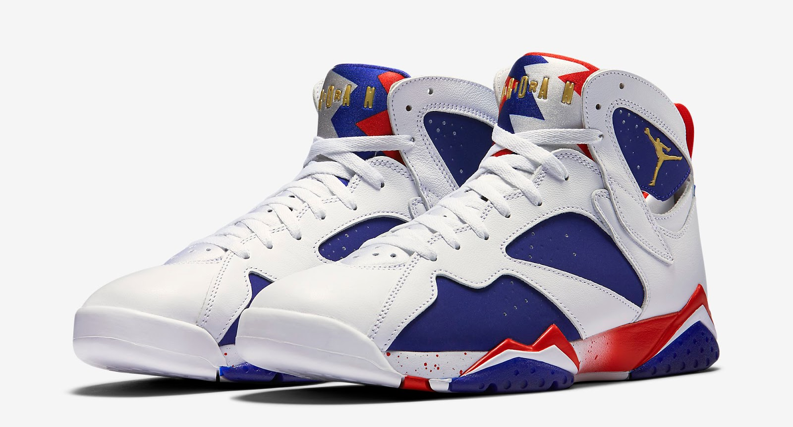 jordan 7 blue and gold