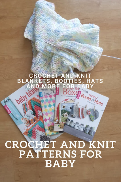Crochet Baby blankets, busy baby boxes, infant boots and hats and knit ice cream afghans review
