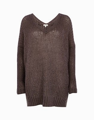 http://www.riverisland.com/women/dresses/knitted-dresses/Dark-grey-V-neck-jumper-dress-658825
