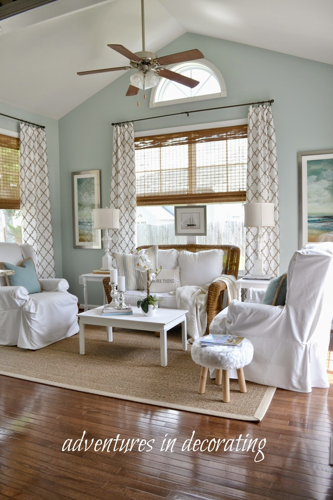 Adventures in Decorating A New Shade for the Sunroom
