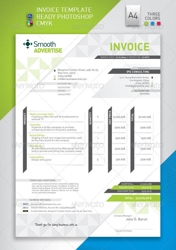 Best Invoice Templates Indesign PSD DOCX Designsmagorg - Corporate invoice template