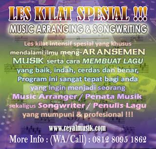 les aransemen musik, les bikin lagu, kursus aransemen musik, kursus digital recording, kursus produksi musik
