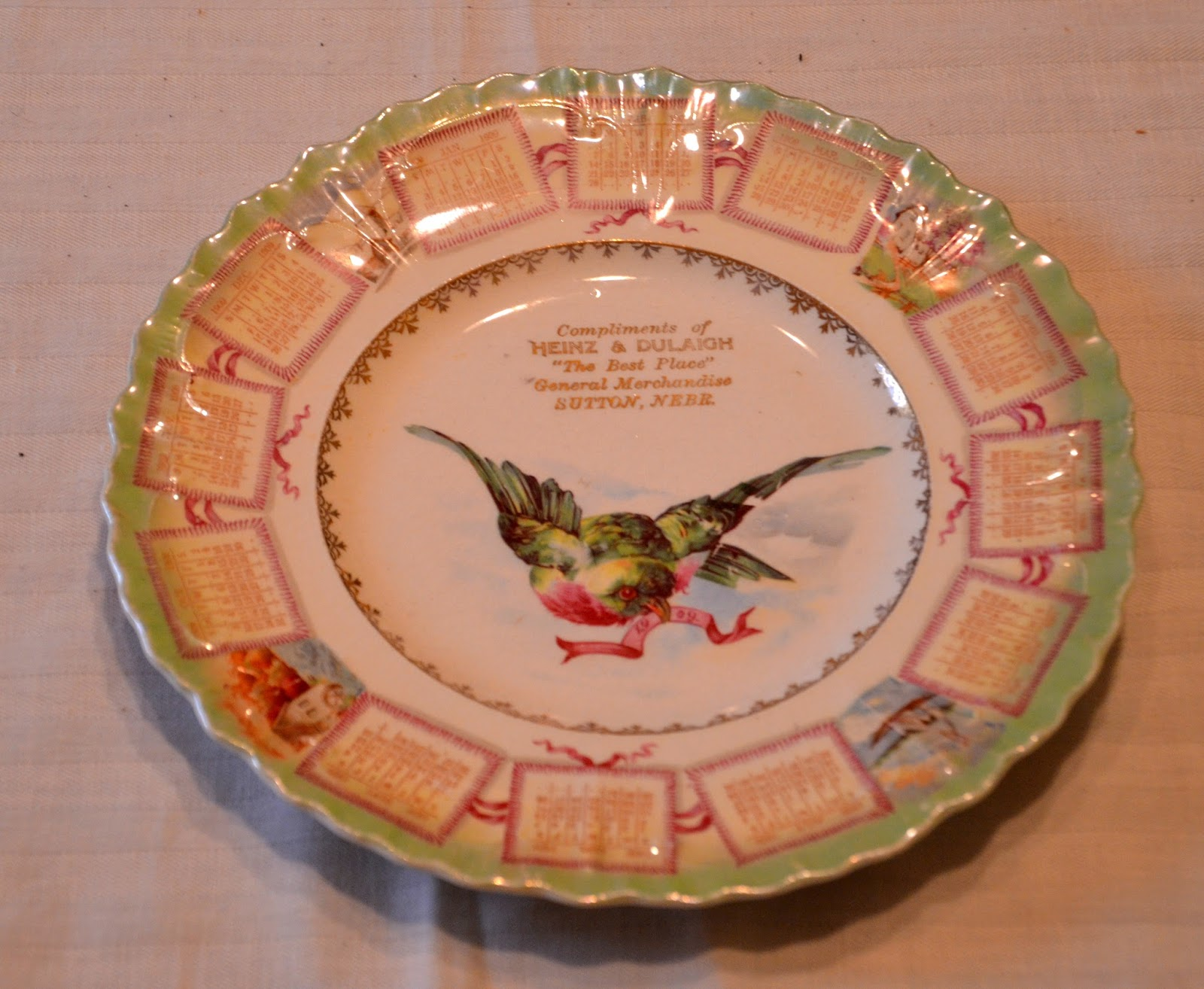 Among the hundreds of items in the Shirley Wach treasures recently donated to our museum were several decorative plates & Sutton Nebraska Museum: Decorative Plates - Wach Collection
