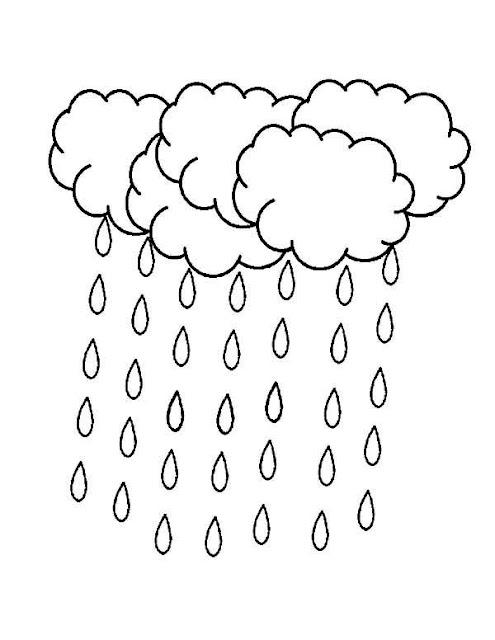 dessin de pluie à imprimer
