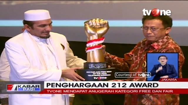 TvOne Raih Penghargaan dari Persaudaraan Alumni 212