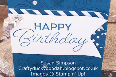 Stampin' Up! UK Independent Demonstrator Susan Simpson, Craftyduckydoodah!, Birthday Blast, Coffee & Cards Project April 2017, Supplies available 24/7 from my online store,