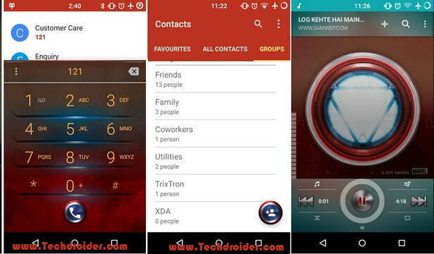 Iron Man theme for Cyanogenmod 12 ( Cm12 )