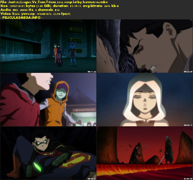 Descargar Justice League vs. Teen Titans Latino por MEGA.