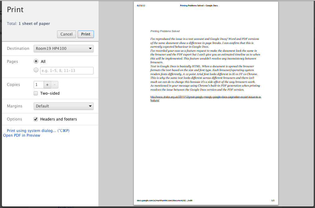 Google Docs As Pdf Formatting Issues